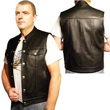 leather biker vest bison leather vest by bikers paradise