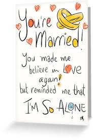 wedding greetings card awkward wedding card greeting cards by twisteddoodles redbubble