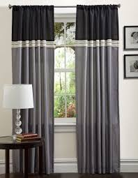 Drapery Panels 96 Living Room Grey Color Block Rod Pocket Drapery With Color Block