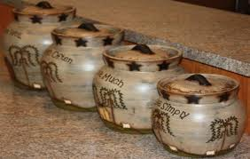 western kitchen canister sets kitchen canisters barbwire rustic ranch western decor