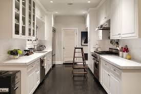 Small Galley Kitchen Floor Plans by Interior White Country Galley Kitchen In Delightful Long Narrow