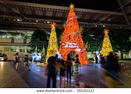 Christmas Decorations Tree Singapore by Singaporenov 26 2015 Christmas Tree Decoration Stock Photo