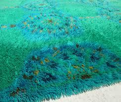 blue shag area rug rugnur bella maxy home moroccan trellis