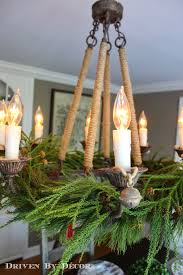 Christmas Decoration For Chandelier by Our Christmas Home Tour Driven By Decor