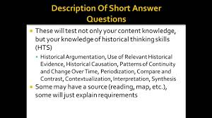 apush review the new test short answer questions saqs youtube
