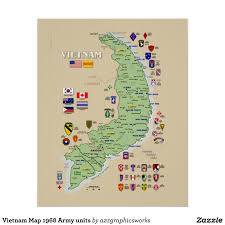 Chicago Map Poster by Vietnam Map 1968 Army Units Poster Vietnam Army And Vietnam War