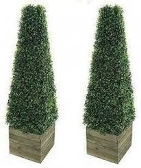 2 x artificial trees 0 9m pyramid cones indoor artificial trees