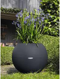 plaque ardoise jardin bac puro color 50 gris ardoise kit complet lechuza pot de fleurs