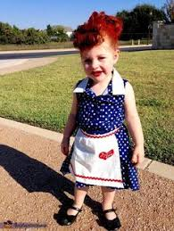 Love Lucy Halloween Costume Love Lucy Black U0026 White Polka Dot Dress Apron Costumes