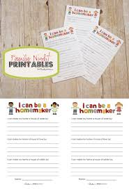 everyone a homemaker family idea and printable