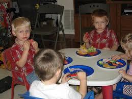 Kids Eating Table Jack Lewis U0027s First Birthday
