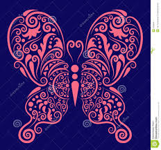pink butterfly ornament stock vector image of book animal 25098541