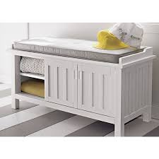 Cushioned Storage Bench Brilliant Storage Bench Cushion Treenovation With Baskets And Plan