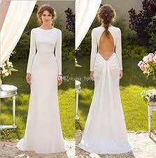 evening wedding dresses 2014 concise white sleeve sheath wedding dresses