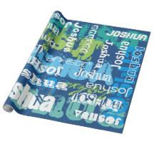 personalized wrapping paper wrapping paper zazzle