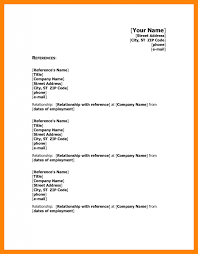 Character Reference Format Resume Reference Format Resume Format