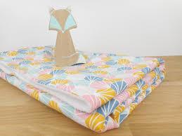 origami chambre bébé couverture bébé tissu imprimé origami multicolore mixte