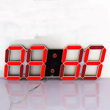 Clock Home Decor Remote Control Large Led Digital Wall Clock Modern Design Home