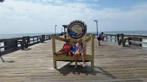 Big Beach Chair Hanging Out On The Big Chair Picture Of Springmaid Pier Myrtle