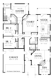 One Story Floor Plans by 3 Bedroom House Plans One Story