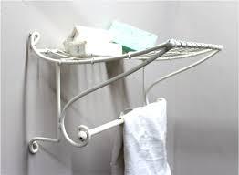 Bathroom Shelves With Towel Rack by Bathroom Shelf And Towel Rack White Steel Train Station Shape