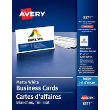 avery perforated business cards matte white 250 u0027s 8371