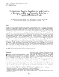 epidemiology severity classification and outcome of moderate and