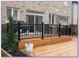 aluminum deck railing systems decks home decorating ideas
