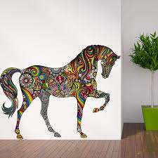 horse of many colors wall sticker horse wall decals color walls a horse of many colors wall sticker rainbow floral horse wall decal
