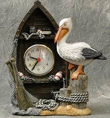 devali boat shaped pelican clock nautical themed home decor 7