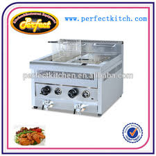 table top fryer commercial commercial table top gas chicken fryer 2tank 2 basket 14l 14l
