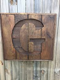 monogram letters home decor custom recycled pallet initial g sign wooden letter sign