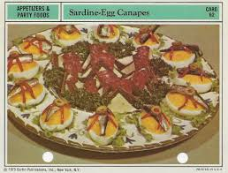 canapes vintage sardine egg canapes vintage recipe cards