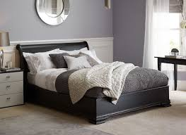 may distressed black wooden bed frame dreams