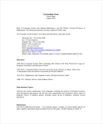 Resume Samples For Lecturer In Computer Science by Computer Science Resume Template 8 Free Word Pdf Documents