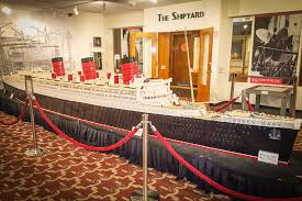 this model of long beach u0027s queen mary ship is made of 250k legos