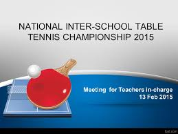 Table Tennis Championship National Inter Table Tennis Championship Ppt Video Online