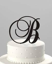 wedding cake topper couples initial or birthday initial acrylic