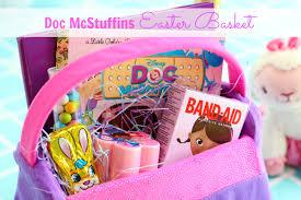 ideas for easter baskets doc mcstuffins inspired easter basket gluesticks