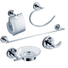 fresca alzato bathroom accessories 5 piece bathroom accessory set