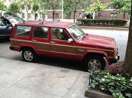 mercedes benz jeep red curbside capsule 1984 91 jeep xj wagoneer limited u2013 social climber