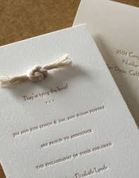wedding invitations knot handmade tying the knot save the dates made from brown card and
