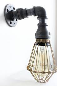 brass bathroom vanity light industrial lighting wall sconce w brass cages steunk bathroom