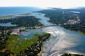bass river in west dennis harbor in west dennis ma united states