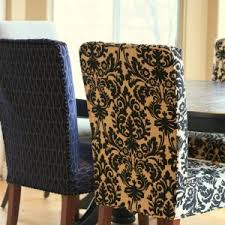 Zebra Dining Chair Covers Dining Room Attractive Parsons Chair Slipcovers For Modern Dining