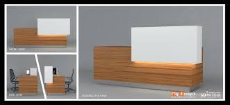 reception table design office interior designs in dubai
