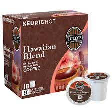 Blend K Cups Tully S Hawaiian Blend Coffee 180 K Cup Pods