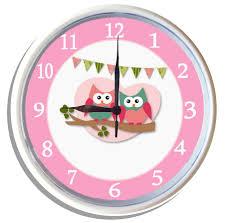 kids wall clock cute hoots owls animals by kids art 25cm ebay