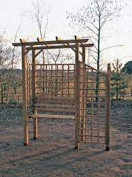 how to build a trellis archway how to build an arbor with a bench how tos diy