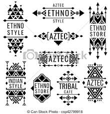 tribal mexican vector ornaments indian nativity vector